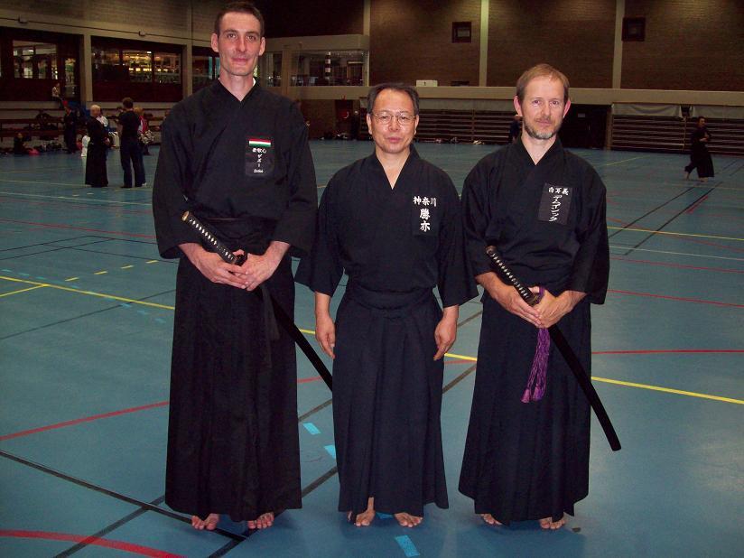 Zsolt, Katsumata sensei és Patrik sensei